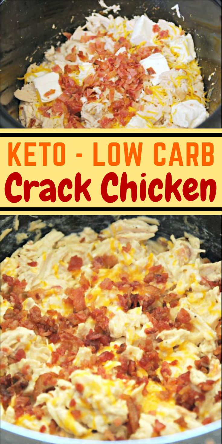 KETO CRACK CHICKEN IM CROCK POT #Diet #LowCarb