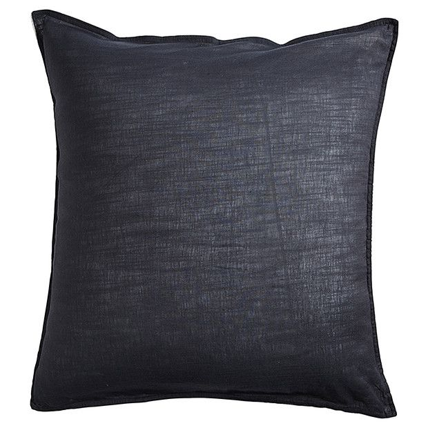 Linen Cotton European Pillowcase - Grey