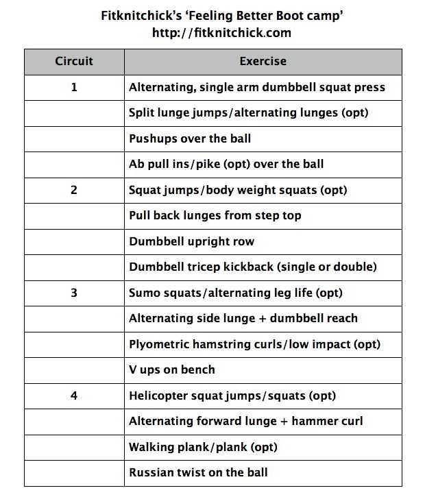 Feeling Better Bootcamp pic: Interval Timer,  Website, Gymboss Interval, Interval Workout, 12 Round, Repeat Circuit, Circuit Workout, Interval Training, Rest 20
