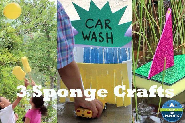 Three Summer Sponge Crafts: Video - http://www.pbs.org/parents/crafts-for-kids/sponge-crafts-video/