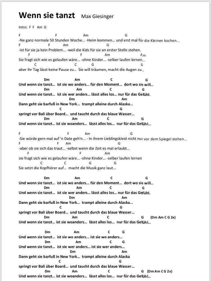 Songtext Lieder