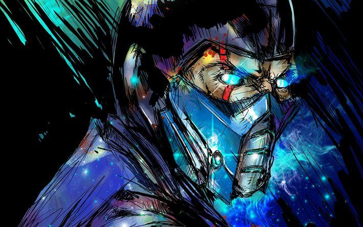 Descargar fondos de pantalla Sub-Zero, el arte, el Mortal Kombat