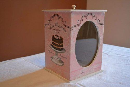 cajas de galletitas en fibrofácil decoupage