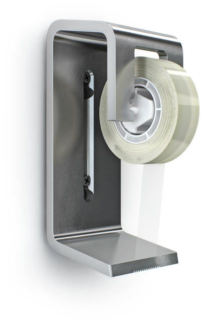 Dispensing Tape Dispenser - Cool design, I really like it wall mounted.