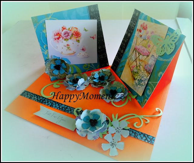 HappyMomentzz crafting by Sharada Dilip: Double Twisted Easel Card