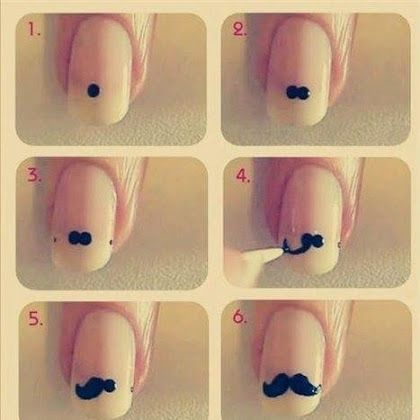 Moustache Nail Art Tutorial