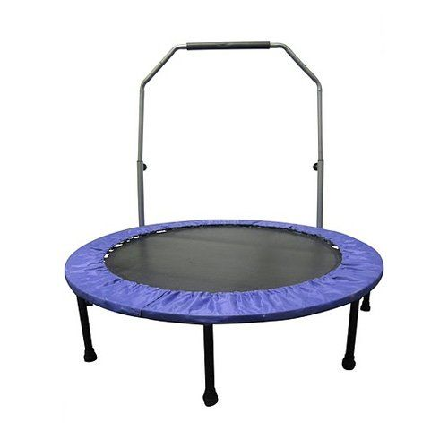 May Have to have it. Upper Bounce 48 in. Mini Indoor/Outdoor Trampoline with Handle - $71 @hayneedle.com
