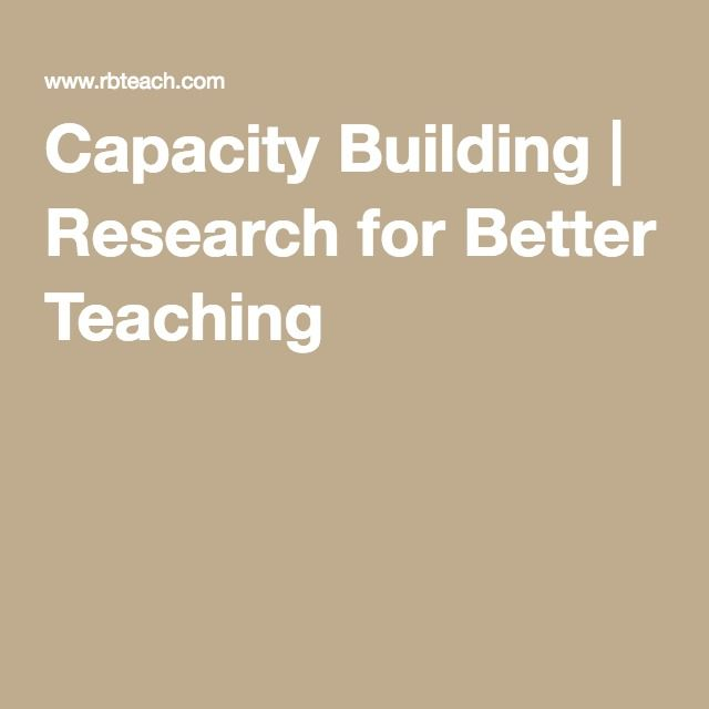 Capacity Building | Research for Better Teaching