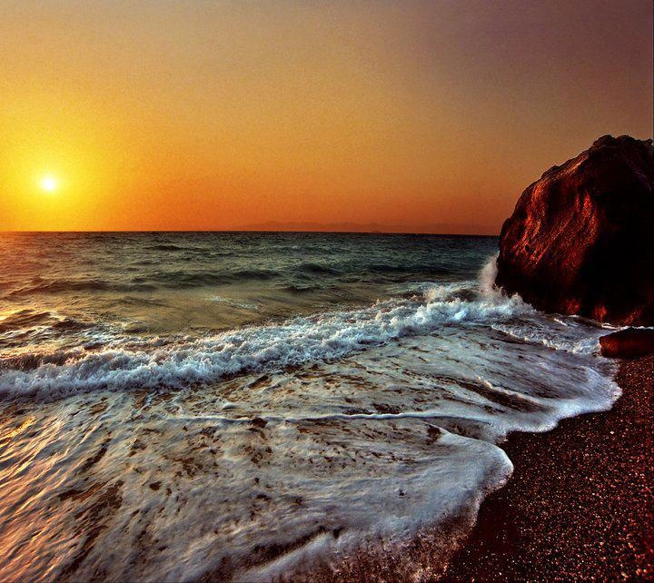 SUNSET IN RODOS GREECE