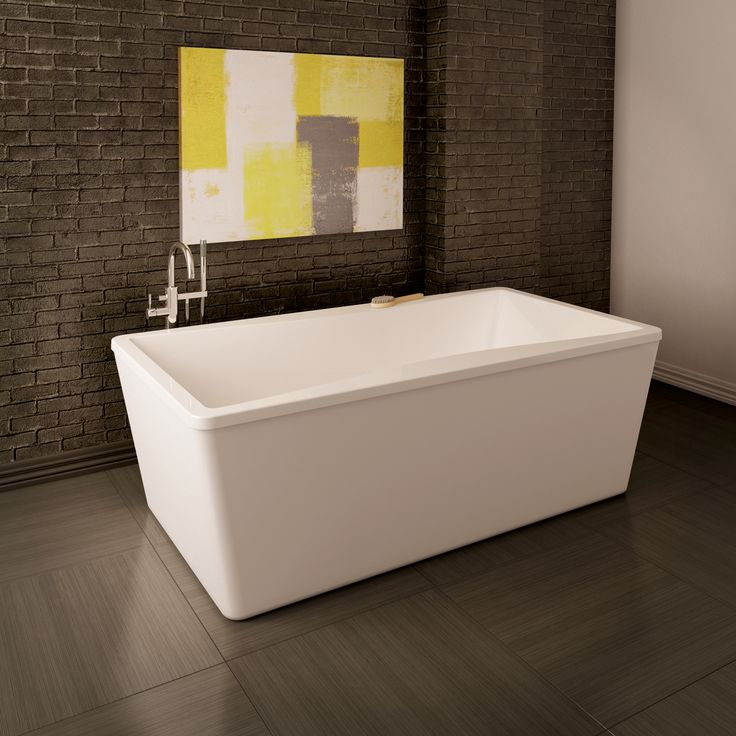 freestanding tub with faucet deck. The Nivo freestanding tub from Acryline has 59 air jets that provide a warm  hydro massage 7 best ACRYLINE images on Pinterest Bathroom ideas Bathtubs and