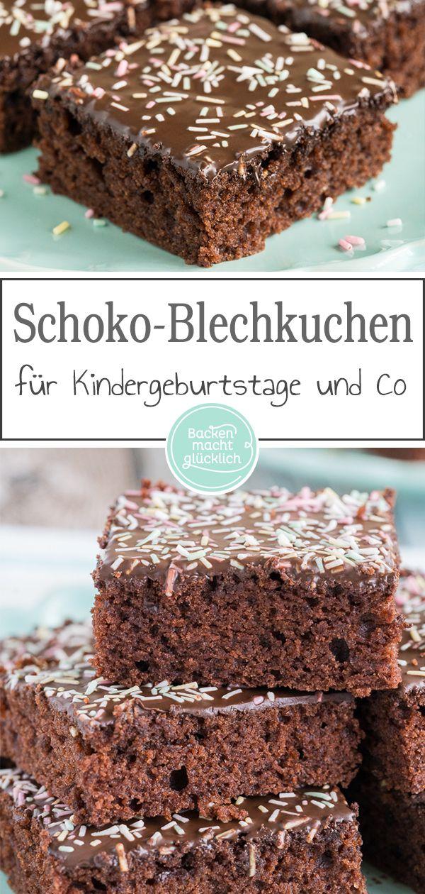 Saftiger Schoko Blechkuchen Rezept Rezepte Pinterest Kuchen