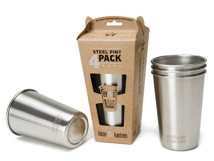 Klean Kanteen Stainless Steel Pint Cups - The Green Head