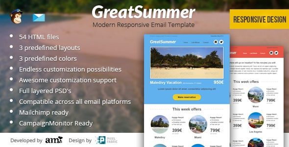 GreatSummer - Responsive Clean Email Template