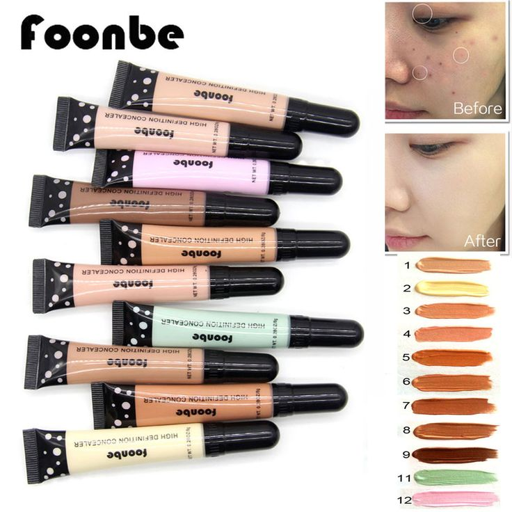 With Brush Smooth Concealer Primer Lasting Cover Pore Wrinkle Face Makeup Natural Long Lasting Cosmetic Foundation Facial Cream