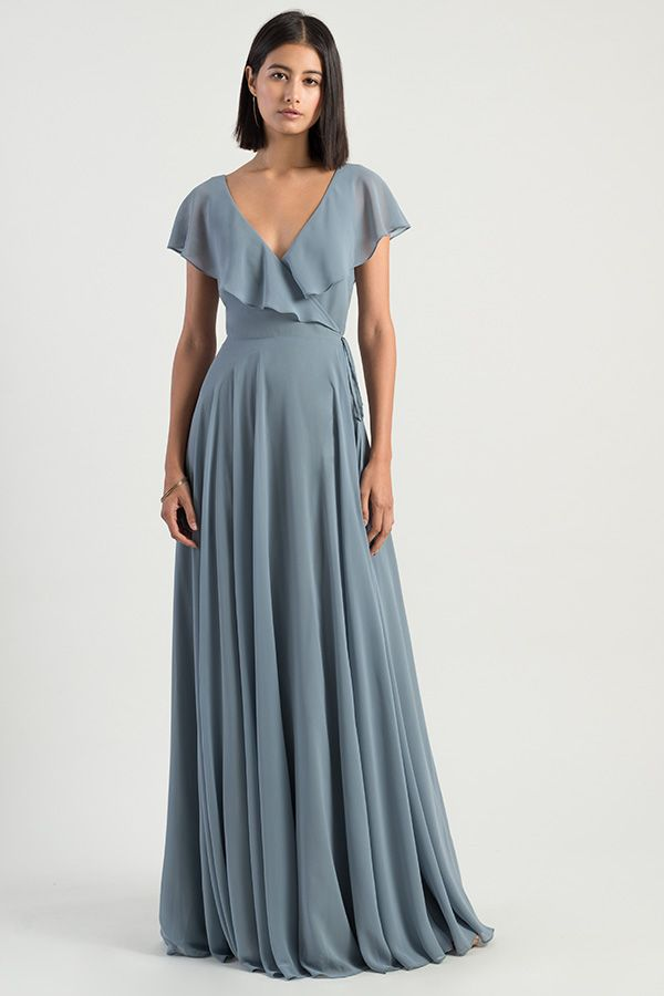 38c03aa3e96 The Faye dress by Jenny Yoo 2019 bridesmaids is a sophisticated    effortless wrap dress with a V neckline and an A line silhouette in our  flowy Luxe ...