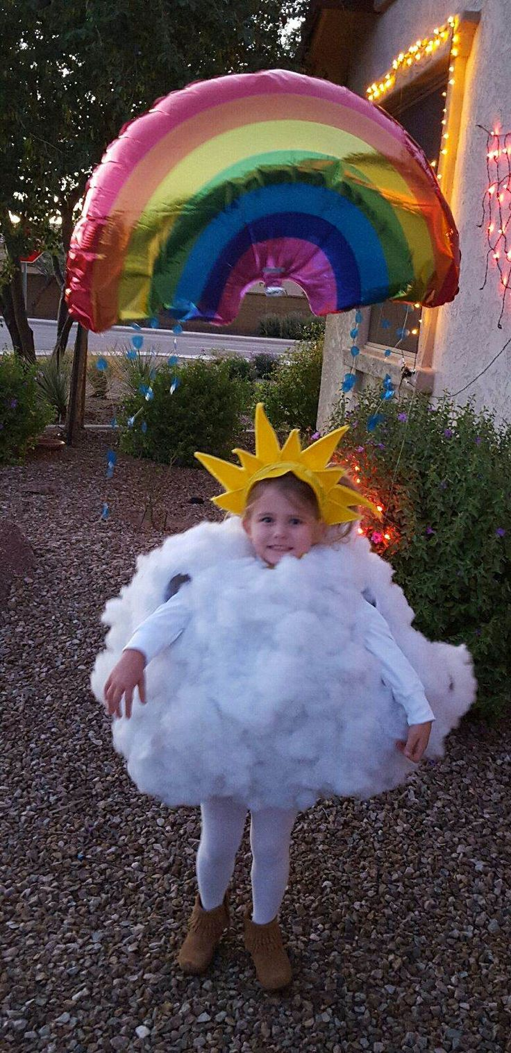 Halloween costume 2015. Rocket, a little rain cloud.
