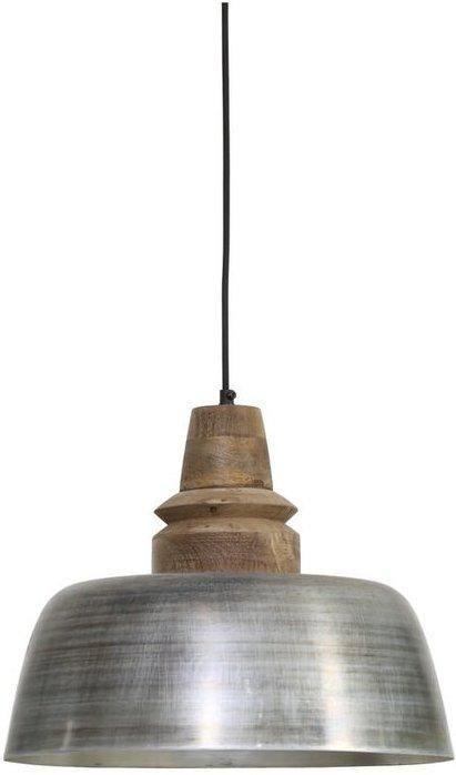 Hanglamp Margo  - antiek zilver- weather barn - 40x33cm - Light & Living