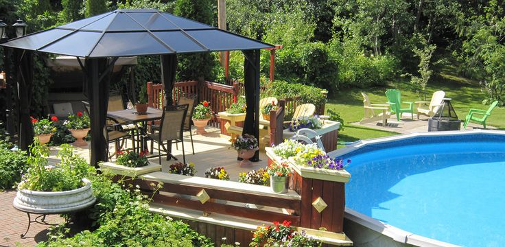 1000 images about r alisations piscines spas gazebos for Club piscine gazebo