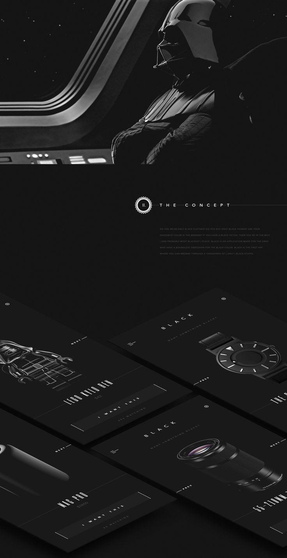 Black - application on Behance