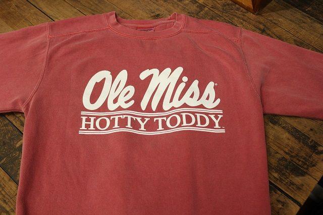 Ole Miss Hotty Toddy Bar crimson comfort color sweatshirt $38.95