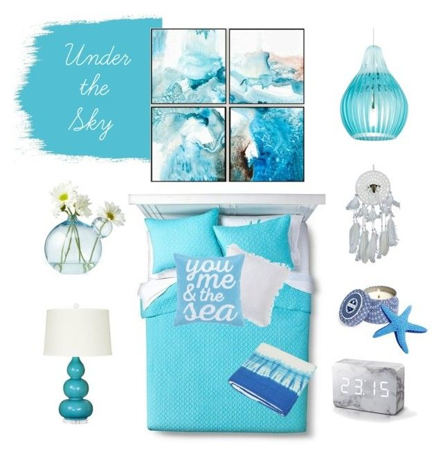 Under the sky by kelschiao on Polyvore featuring interior, interiors, interior design, home, home decor, interior decorating, Tech Lighting, homthreads, Designers Guild and Cost Plus World Market