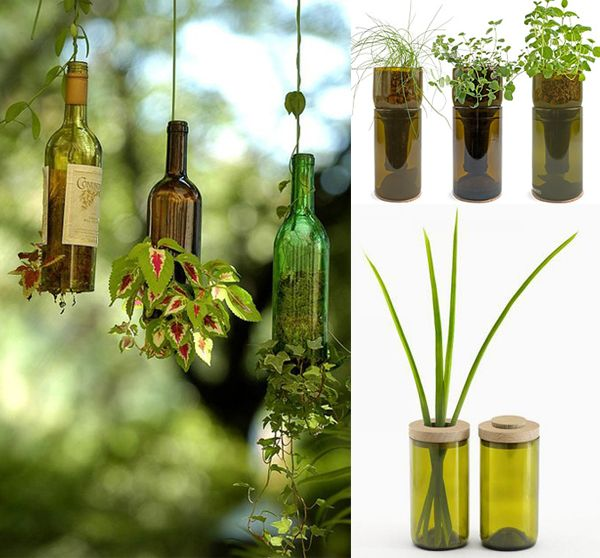 Wine Bottle Recycling Ideas Furnish Burnish Do It Yourself Pinterest Recycling Ideas