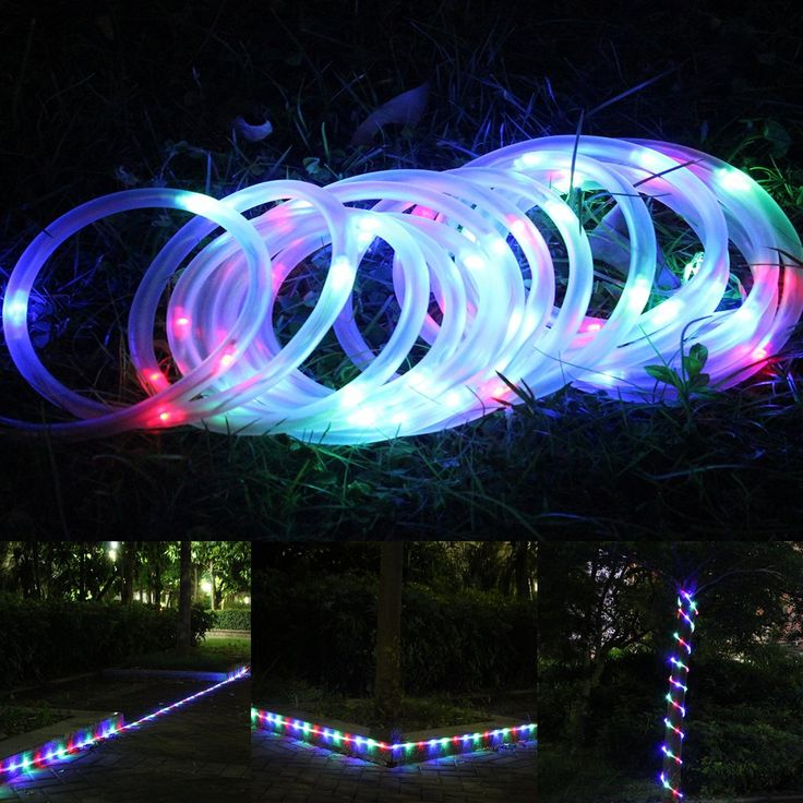 Amazon.com: LTE 50 Leds Solar Rope Lights, Total length of 23ft ,Multi-color, Outdoor Waterproof LED Solar Rope Lights , Ideal for Christmas, Gardens, Lawn, Patio, Weddings, Parties.: Home Improvement