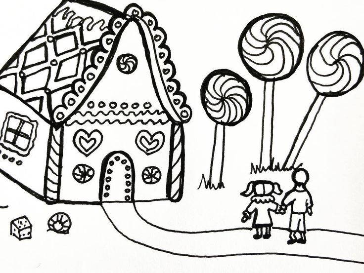 Hansel and Gretel #art #stories #fiction #kindergarten #