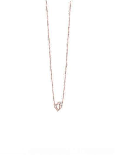 G Hearts rose gold plated Necklace