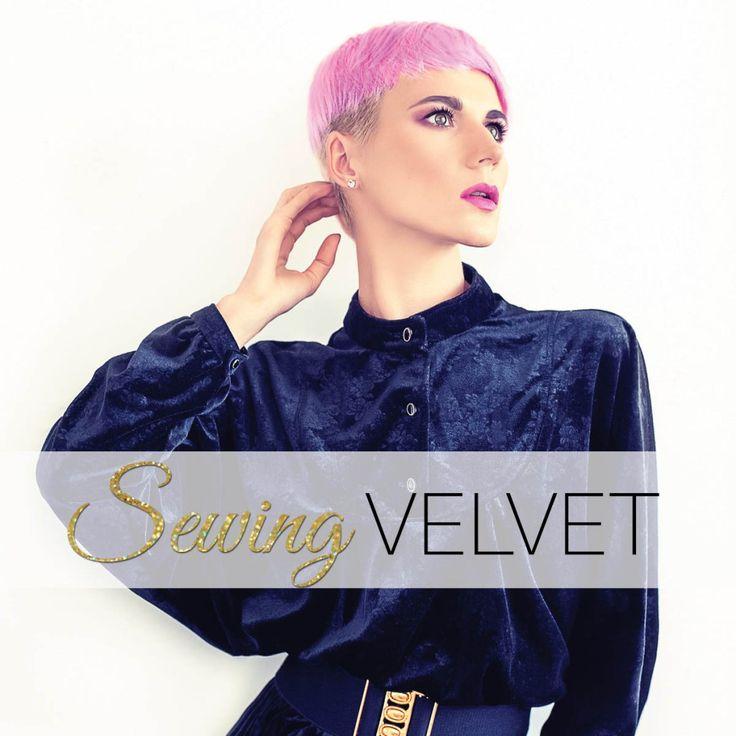 sewing velvet - in 5 easy steps