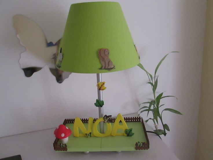 1000 images about lampe de chevet enfant fait main. Black Bedroom Furniture Sets. Home Design Ideas