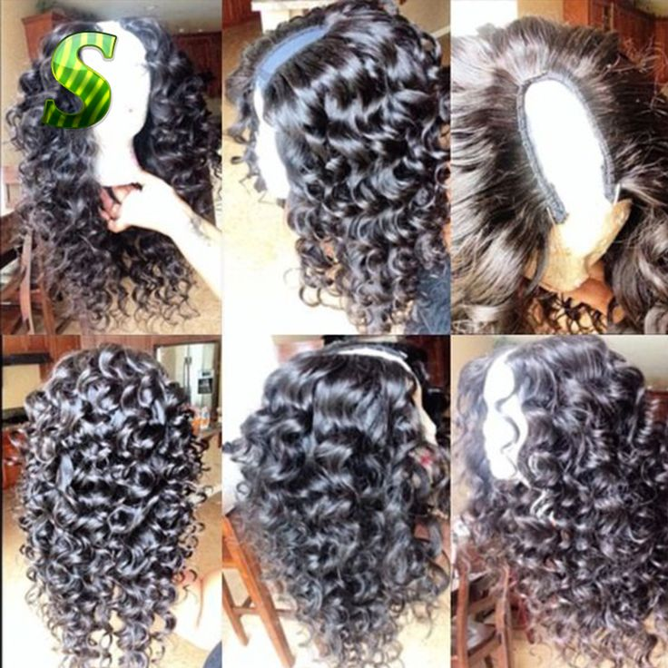 U Part Human Hair Wigs Brazilian Deep Curly U Part Wigs Virgin Hair Unprocessed Deep Curly Human Hair U Part Wig For Black Women
