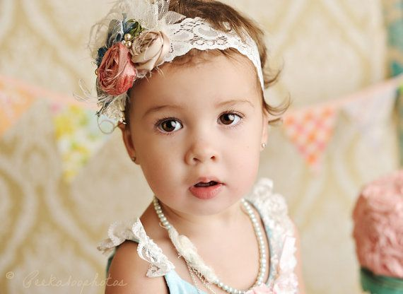 I don't have a little girl, but this headband is stunning, and this little darling is, too!