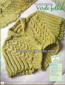 Olá amigas! estava tricotando na surdina este coletinho, que gerou muitos outros, porque era para o chá virtual da Manuela fil...