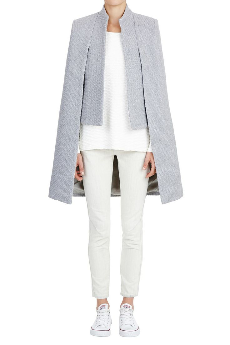 sass & bide | the snowbird - grey marle | capes |