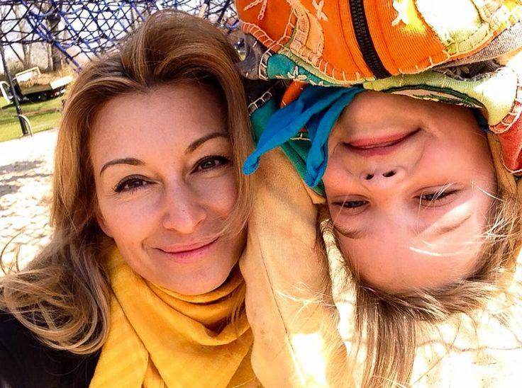 Poland -Martyna Wojciechowska z córką Marią