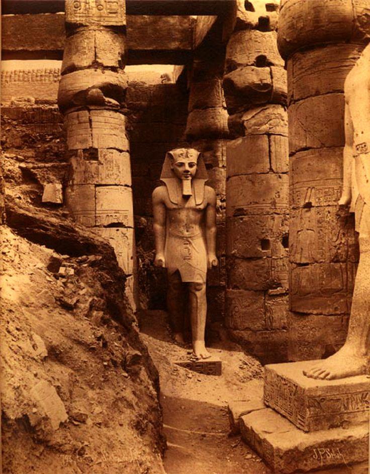 Ramses II, Luxor, Egypt, 1880s  photo byJ. Pascal Sébah