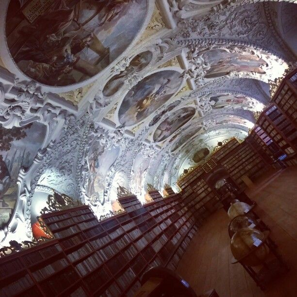from the collection of The Wordl's most spectacular places is Strahov Monastery Library on the top