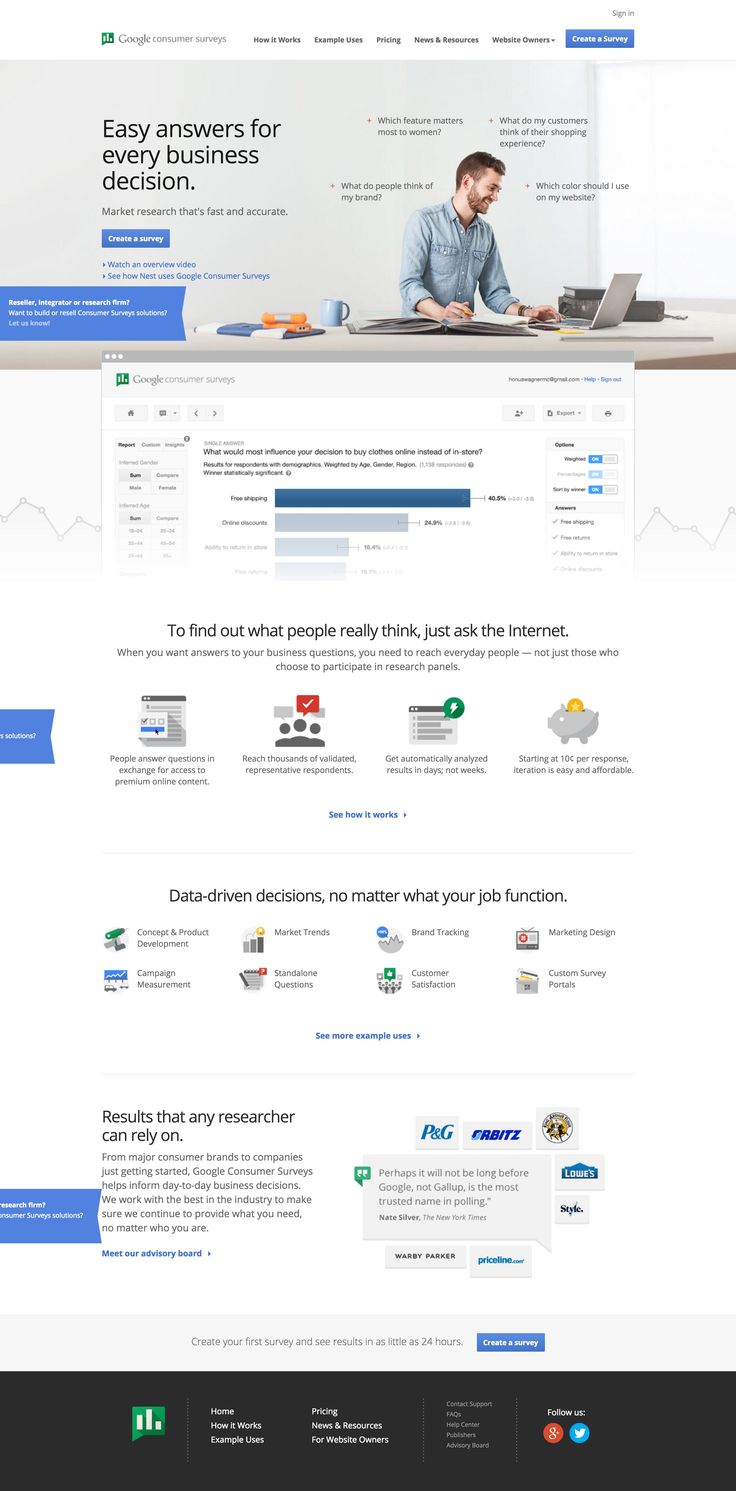 Google Insights Consumer Surveys