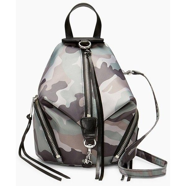 Rebecca Minkoff Convertible Mini Julian Nylon Backpack ( 125) ❤ liked on Polyvore  featuring bags ab9836c68a2ce