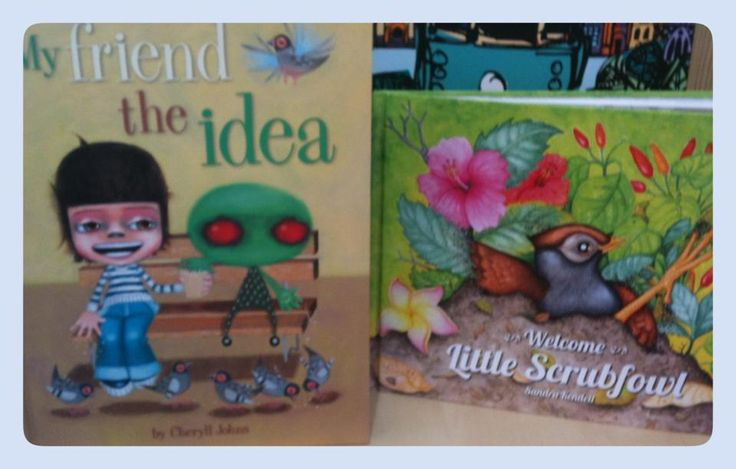 "Another snap from the #Melbourne #Gift #Fair featuring the #WindyHollowBooks storybooks ""My Friend The Idea"" by #CheryllJohns and ""Welcome Little Scrubfowl"" by #SandraKendell!"