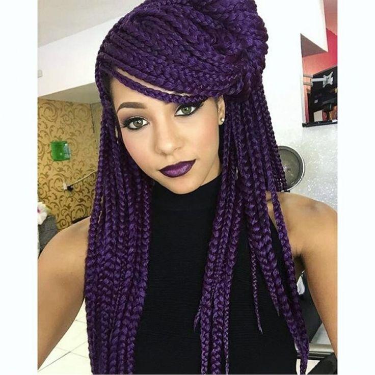 Deep Purple Braids