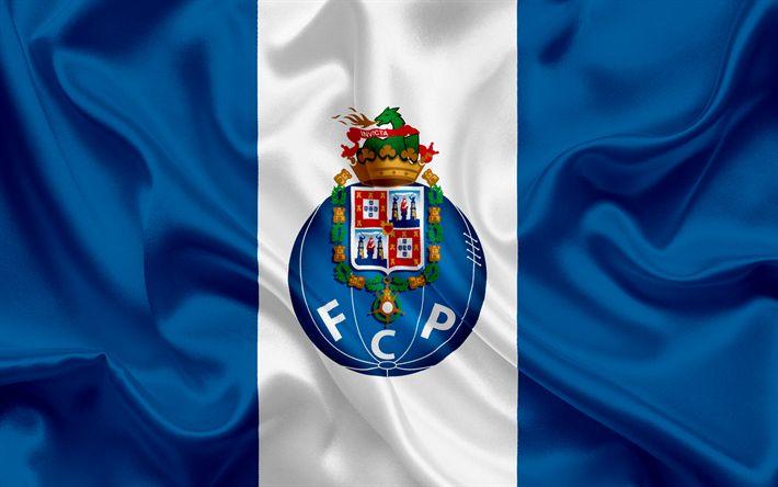 Download wallpapers Porto, Football club, Portugal, football, Portuguese football club, Porto FC