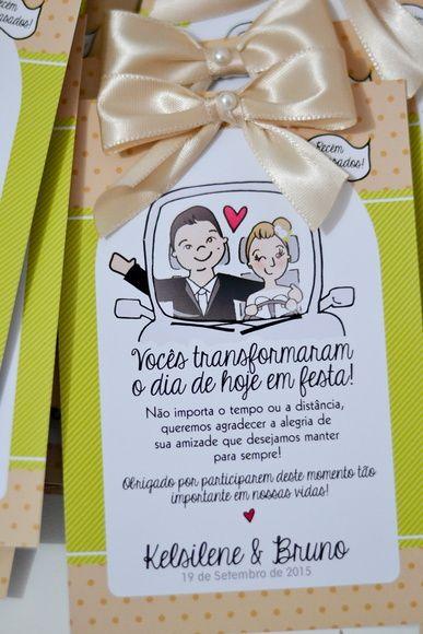 Tag para Carros - Casamento                                                                                                                                                                                 Mais