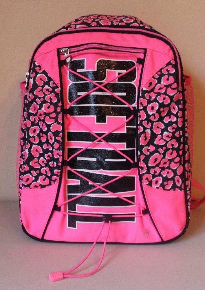 Justice S Pink Softball Backpack Holds 2 Bats Brand New Pinterest Backpacks And