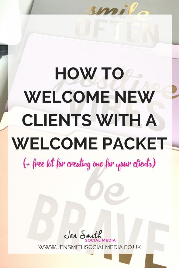 How to welcome new clients with a welcome packet. Such a great way to onboard…
