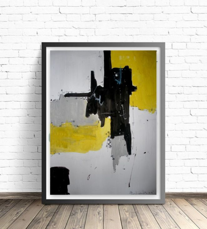 Buy Yellow No 137, Abstract paper collection, Acrylic painting by dimitris…