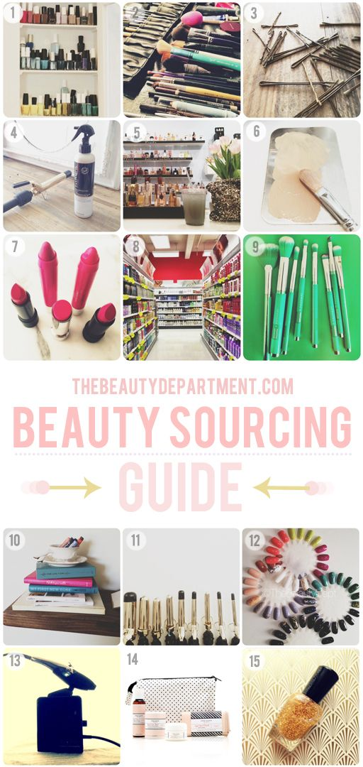The Beauty Department: list of where to buy beauty products