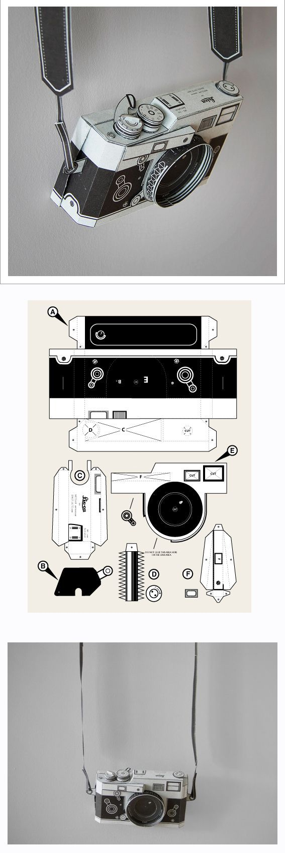 DIY paper Leica camera by Matthew Nicholson PDF £3.00 (Very Cool Crafts)