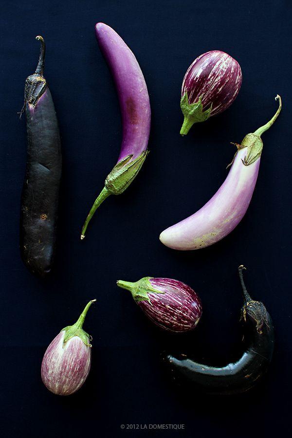 Eggplants from the Boulder Farmer's Market by La Domestique